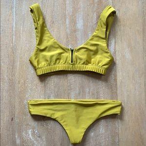 Stone Fox Zipper Bikini